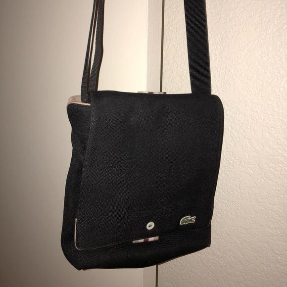 d2edd668e3 Lacoste Handbags - Lacoste canvas messenger crossbody bag